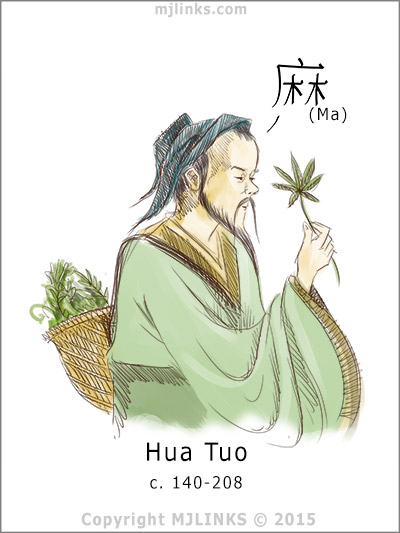 Hua Tuo used Cannabis in his anesthetic concoction mafeisan for conducting abdominal surgeries.