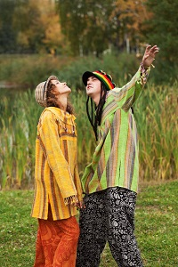 Hippie Couple. Made in the USA!
